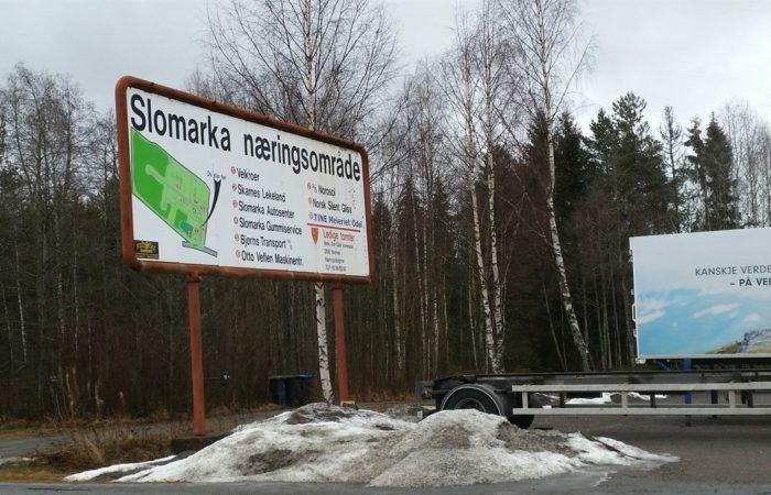 Innhold - Bilde av Slomarka 57 informasjonsskilt