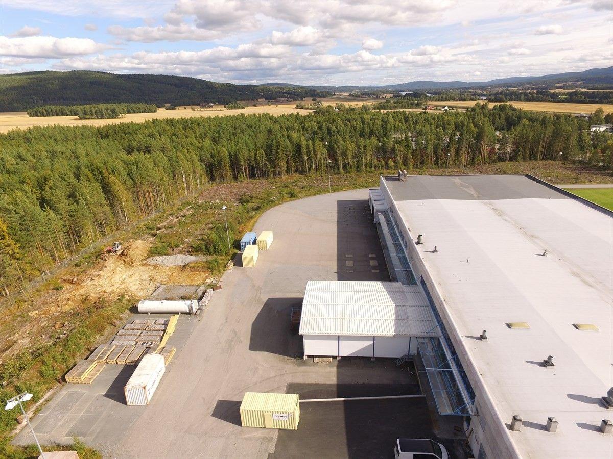 Slomarka 57 - Bilde av bygningen ovenfra tatt med drone